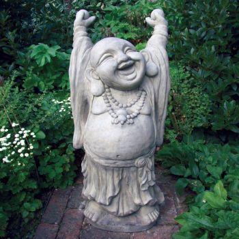 Large Garden Sculpture - Juggling Stone Buddha Statue
