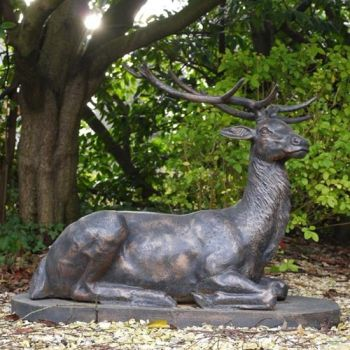 Large Life Size Bronze Stag Sculptures - Deer Garden Ornaments