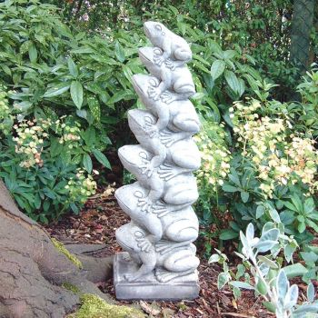Leaping Frogs Sculpture - Large Garden Ornament