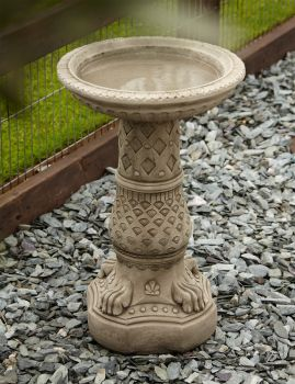 Lions Foot Design Stone Birdbath - Garden Bird Bath Feeder