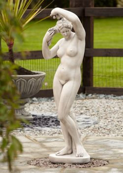 Nude Girl Design Stone Figurine Sculpture - Large Garden Statue
