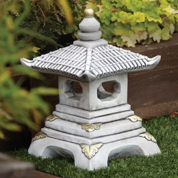 One Tier Japanese Pagoda Lantern - Chinese Garden Ornament