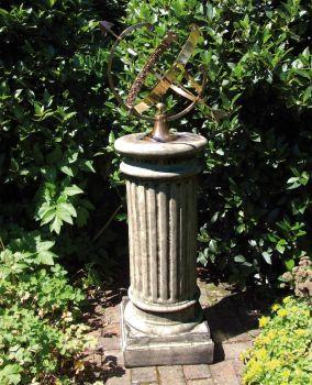 Oxford Armillary Brass Stone Sun Dial - Garden Sundial