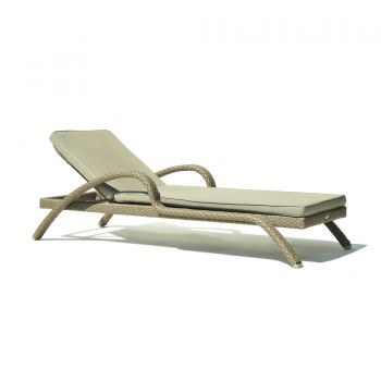 Pacific Rattan Sun Lounger Garden Furniture