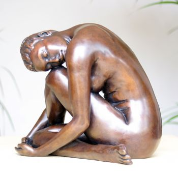 Pause In The Dance Bronze Sculpture - Nude Female Figurine