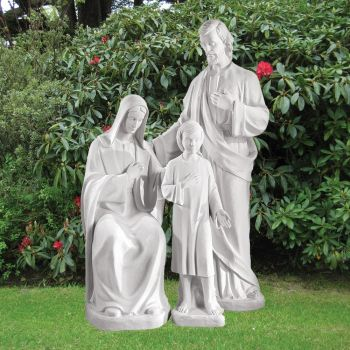 Religious 185cm Holy Family Sculpture - Marble Garden Statue