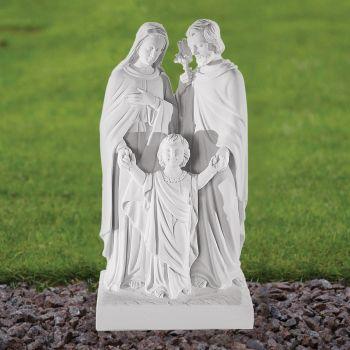 Religious Family 50cm Sculpture - Marble Garden Statue