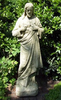 Religious Jesus Stone Statue - Large Garden Sculpture