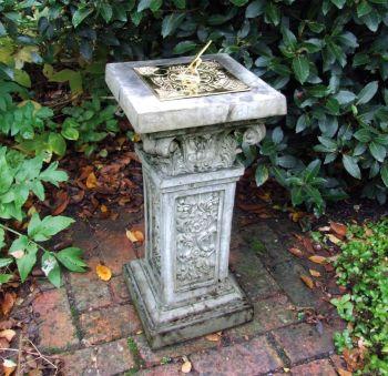 Rocco Brass Stone Sun Dial - Garden Sundial