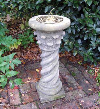 Roman Brass Stone Sun Dial - Garden Sundial