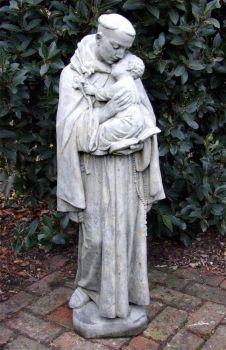 Saint Anthony Stone Sculpture - Large Garden Statue