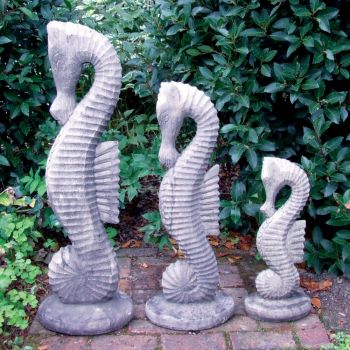 Set of Seahorses Statue - Large Garden Ornament