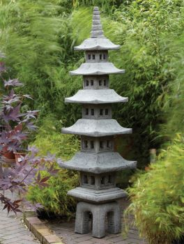 Seven Piece Japanese Pagoda Lantern - Large Chinese Garden Ornament