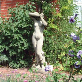 Shy Girl Stone Sculpture - Large Garden Statue