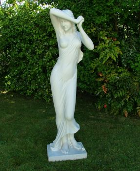 Shy Maiden Sculpture - Large Garden Statue Ornament Art