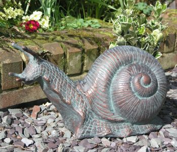 Snail Bronze Metal Garden Ornament