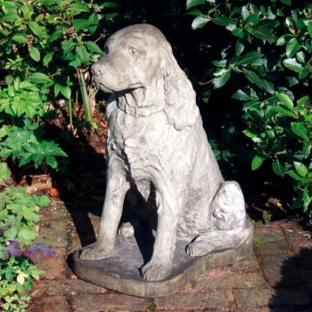Spaniel Dog Statue Sculpture - Large Garden Ornament