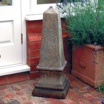 Stone Obelisk for Garden Sculpture - Small Garden Obelisks