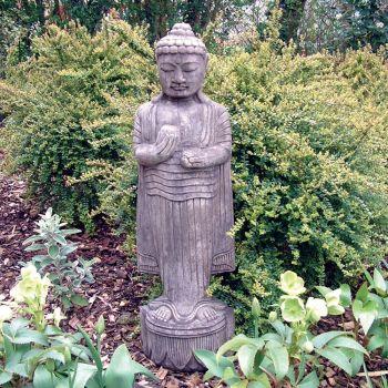 Stone Standing Buddha Statue - Large Garden Sculpture