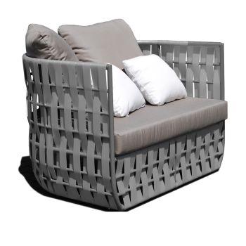 Strips Rattan Armchair Garden Furniture