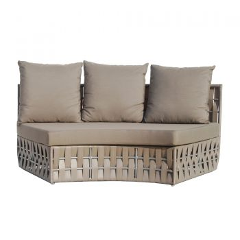 Strips Rattan Centre Curve Sofa Garden Furniture
