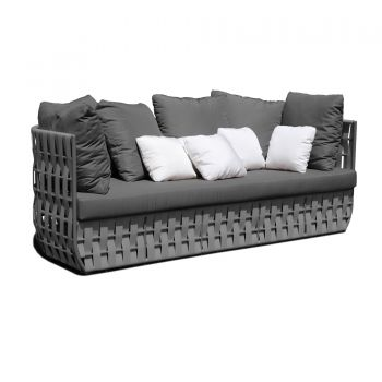 Strips Rattan Sofa Garden Furniture