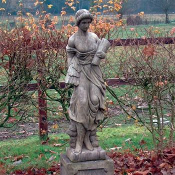 Summer Maid Stone Sculpture - Large Garden Statue