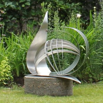 Synergy Stainless Steel Garden Sculpture - Contemporary Art