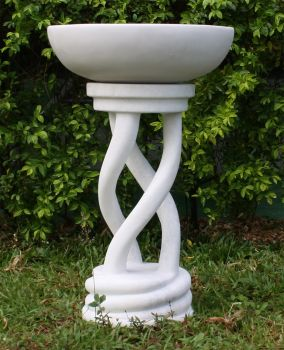 Thirlmere Marble Resin Modern Garden Bird Bath