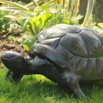 Tortoise Bronze Metal Garden Ornament