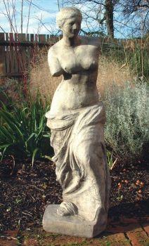 Venus De Milo Stone Sculpture - Large Garden Statue