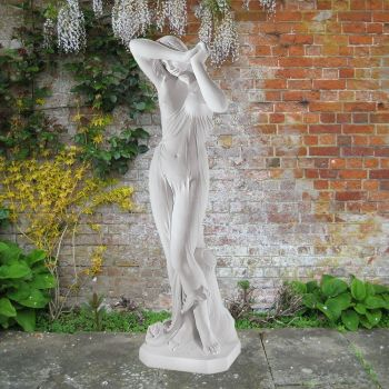 Vergogna 120cm Greek Garden Sculpture - Large Marble Statue