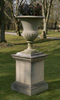 Verona Stone Vase Planter & Pedestal - Large Garden Vases