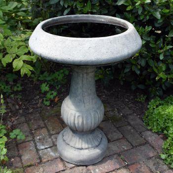 Victorian Design Stone Birdbath Feeder - Garden Bird Bath