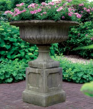 Victorian Plant Pot on Plinth - Grand Garden Planter