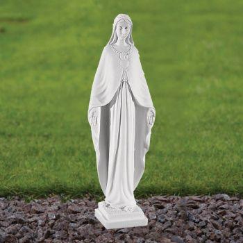 Virgin Mary 36cm Religious Statue - Marble Garden Ornament