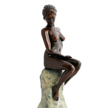 Warmth of the Sun Bronze Sculpture - Nude Female Figurine