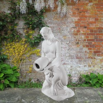 Water Bearer 90cm Greek Garden Sculpture - Large Marble Statue
