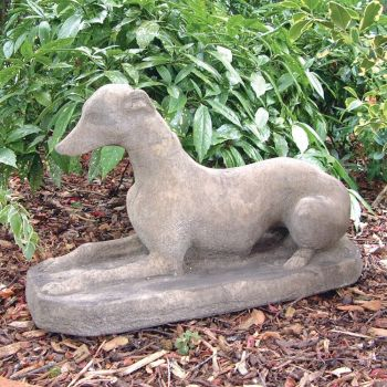 Whippet Dog Statue Sculpture - Large Garden Ornament