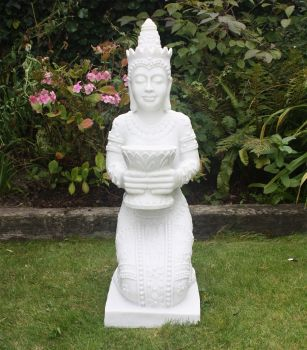 White Thai Princess Statue - Large Garden Sculpture Ornament