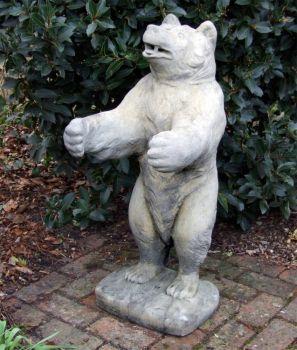 Wild Bear Stone Sculpture - Large Garden Statue