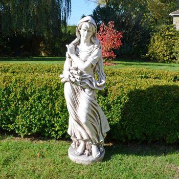 Winter Maiden 119cm Four Seasons Antique Stone Garden Statue