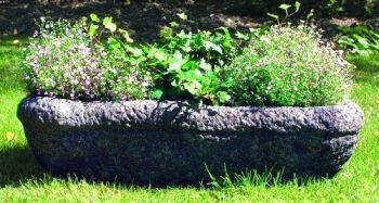 Woodland Stone Plant Trough - Garden Trough