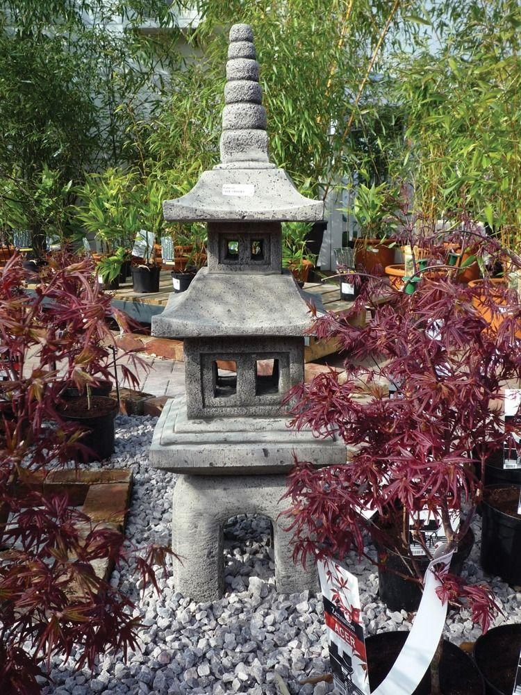 Four Piece Japanese Paa Lantern, Oriental Stone Garden Lanterns