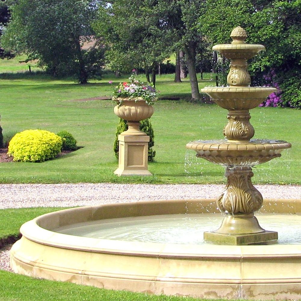China Stone Rockery Large Polyresin Water Fountain with