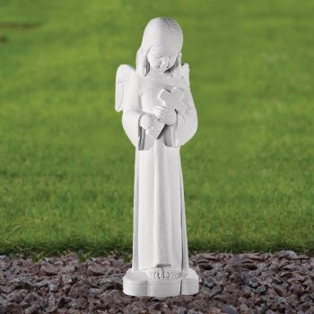Angel Figurine 50cm Religious Statue - Marble Garden Ornament
