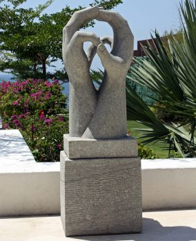 Engage Modern Art Stone Statue - Large Garden Sculpture