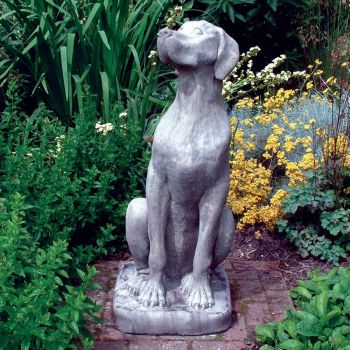 Female Great Dane Dog Sculpture - Large Garden Statue