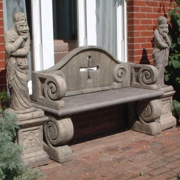 Grand Design Stone Bench - Large Garden Bench