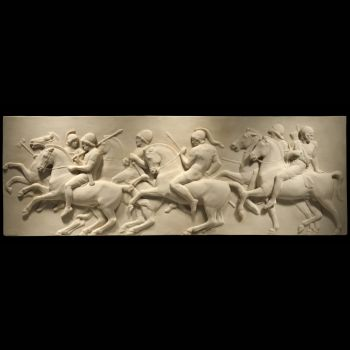 Greek Cavalry - Ancient Greek Marble Wall Relief Plaque